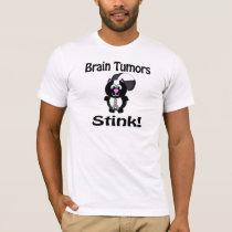Brain Tumors Stink Skunk Awareness Design T-Shirt