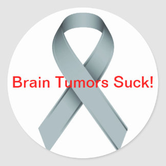 Brain Tumors Suck Classic Round Sticker