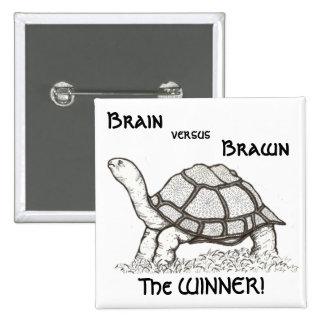 Brain vs. Brawn Badge Button