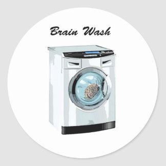 Brain Wash Classic Round Sticker