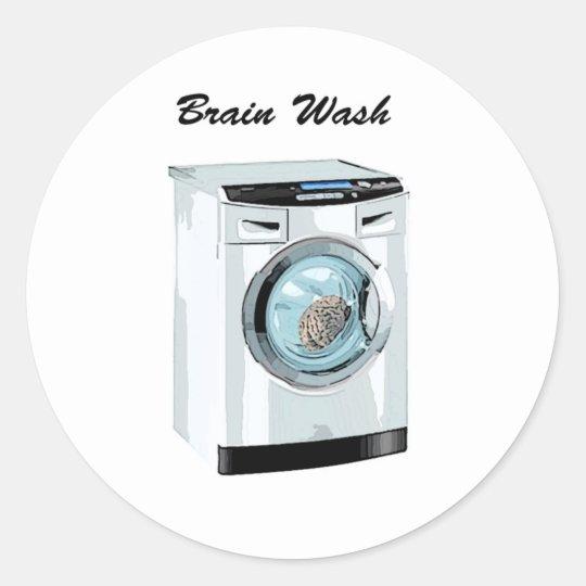 Brain Wash Classic Round Sticker