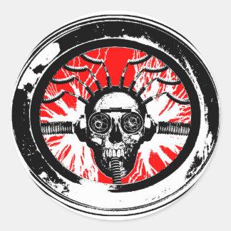 Brain wash wash wash round sticker