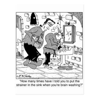 Brain Washing Clogs The Drain Postcard