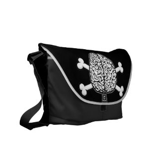 Brain with Crossbones Courier Bag