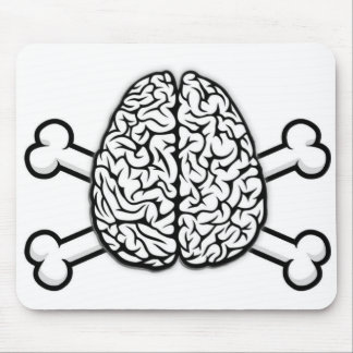 Brain with Crossbones Mouse Pad