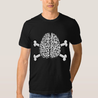 Brain with Crossbones Tee Shirts