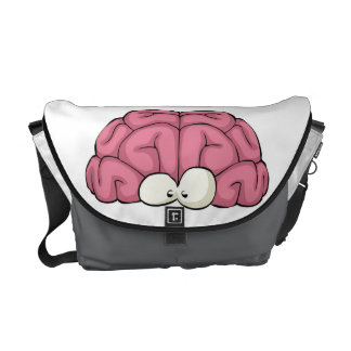 Brain with Eyes Messenger Bag