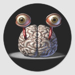 Brain with Eyes Stickers