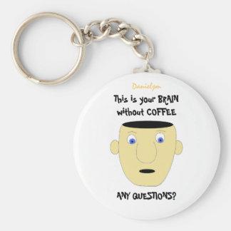 BRAIN WITHOUT COFFE Keychain