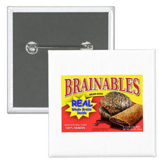 Brainables 2 Inch Square Button