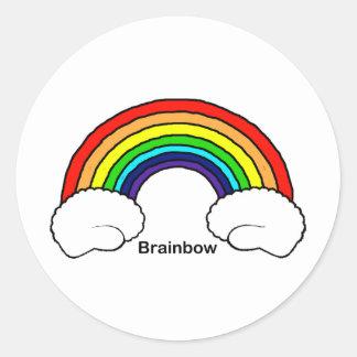 Brainbow Classic Round Sticker