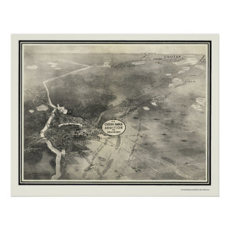 Brainerd, mapa panorámico del manganeso - 1914 posters