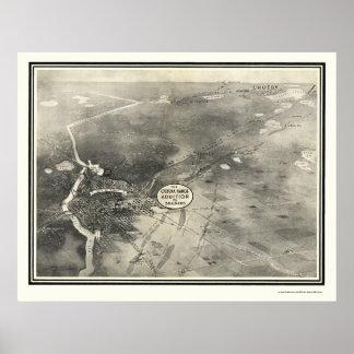 Brainerd, mapa panorámico del manganeso - 1914 póster