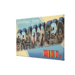 Brainerd, Minnesota - Large Letter Scenes Canvas Print
