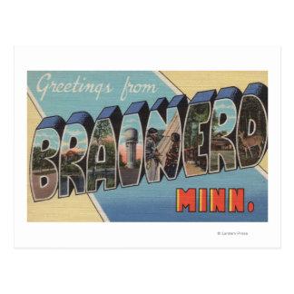 Brainerd Minnesota - Large Letter Scenes Postcard