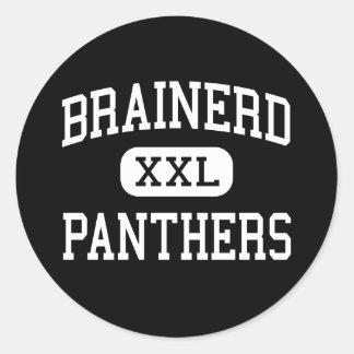 Brainerd - panteras - alto - Chattanooga Tennessee Pegatina Redonda