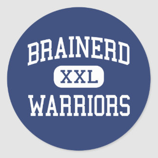 Brainerd - Warriors - High - Brainerd Minnesota Classic Round Sticker