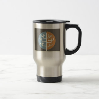 Brainfood Braintree Logo 15 Oz Stainless Steel Travel Mug