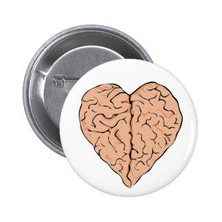 Brainheart Pin Redondo De 2 Pulgadas