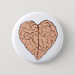 Brainheart Pinback Button