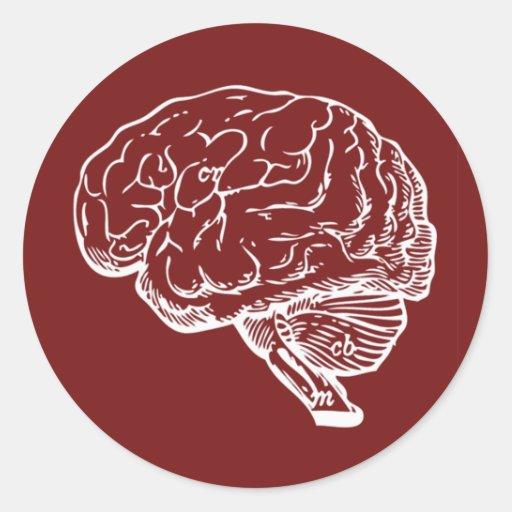 Brainiac Classic Round Sticker