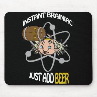 Brainiac inmediato apenas añade la cerveza alfombrillas de ratón
