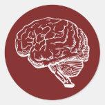 Brainiac Pegatina Redonda