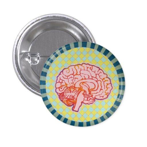 brainiac pin redondo de 1 pulgada