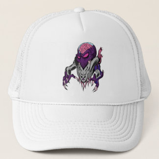 Brainiac Robotic Alien Trucker Hat