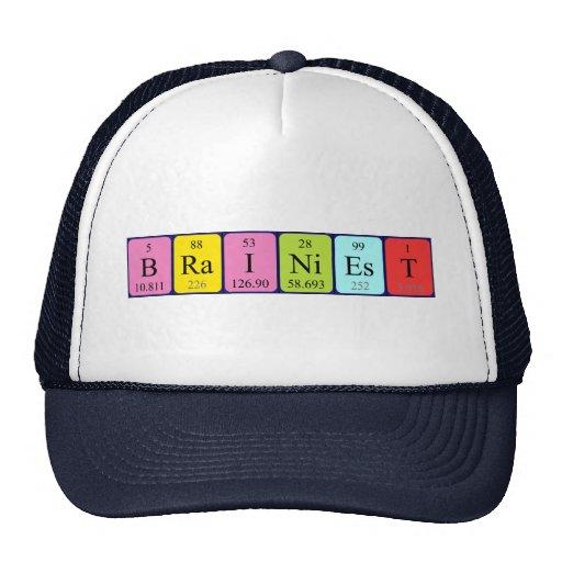 Brainiest periodic table name hat