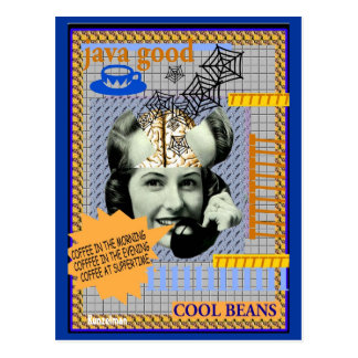 BRAINLADY *Cool Beans* Postcard