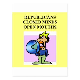 brainless republicans postcard