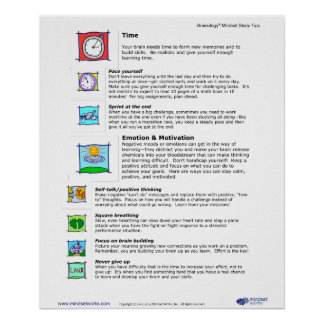 Brainology® Poster 7 Managing Time and Emotions
