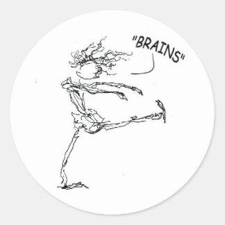 brains2 classic round sticker