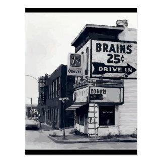 Brains 25 Cents Postcard