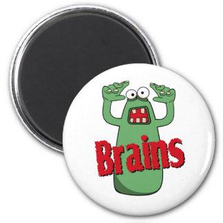 Brains 2 Inch Round Magnet