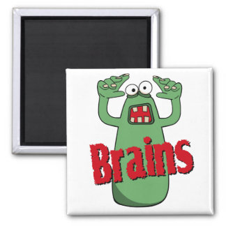 Brains 2 Inch Square Magnet