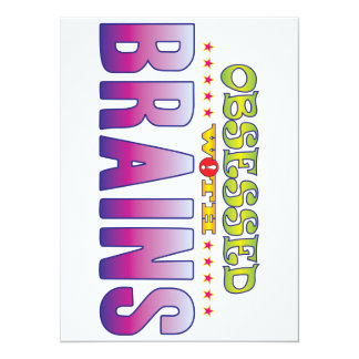 Brains 2 Obsessed 5.5x7.5 Paper Invitation Card
