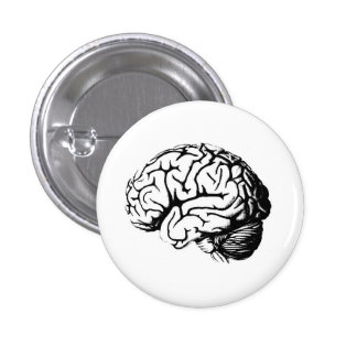 Brains are hot. button