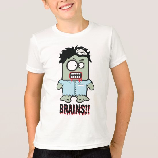 Brains cartoon zombie Halloween Shirt