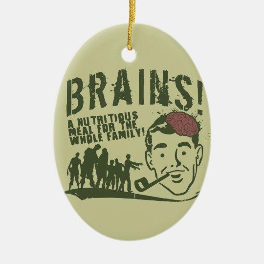 Brains! Ceramic Ornament