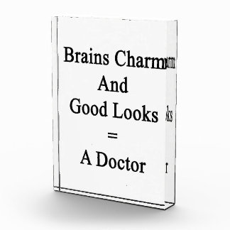 Brains Charm And Good Looks Equals A Doctor Award