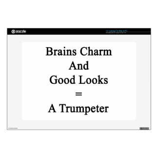 Brains Charm And Good Looks Equals A Trumpeter Skin For Laptop
