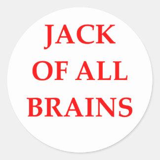 brains classic round sticker