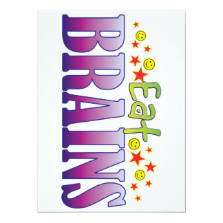 Brains Eat 5.5x7.5 Paper Invitation Card