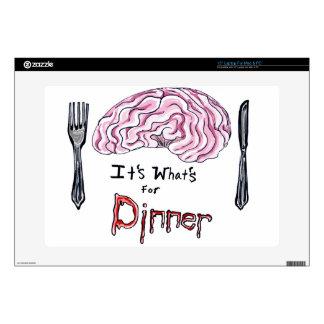 """Brains for Dinner 15"""" Laptop Skin"""