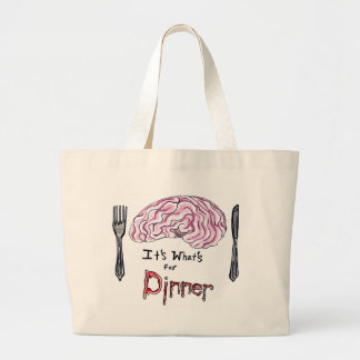 Brains for Dinner Large Tote Bag