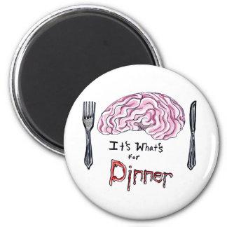 Brains for Dinner Magnet