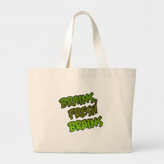 Brains, Fresh Brains Large Tote Bag