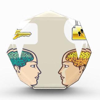 Brains Lock and Key Acrylic Award